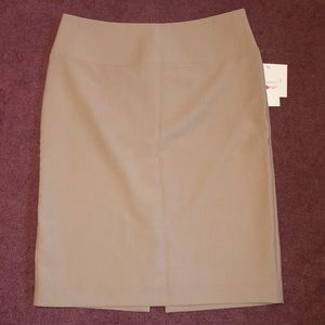 Tan Business Skirt
